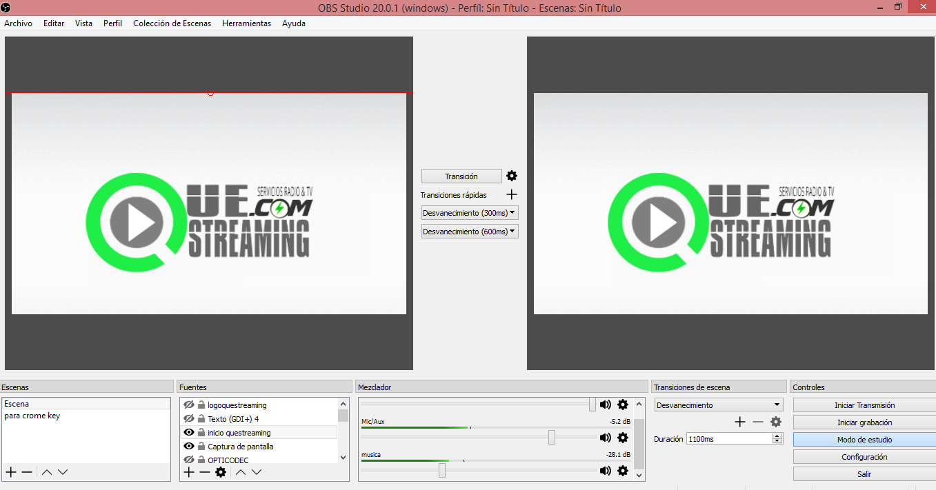Configurar streaming video usando Open Broadcaster OBS